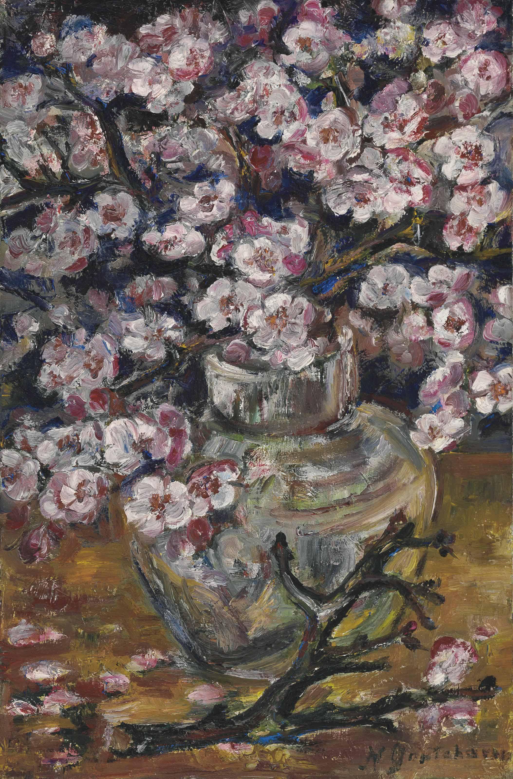 Natalia Goncharova (1881-1962) Cherry blossoms in a vase